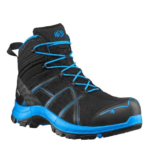 HAIX Black Eagle Safety 40.1 mid Sicherheitshalbstiefel schwarz/blau