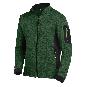 FHB Christoph Strick-Fleece-Jacke  2520-grün/schwarz